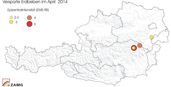 Erdbeben im April 2014
