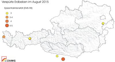 Erdbeben im August 2015