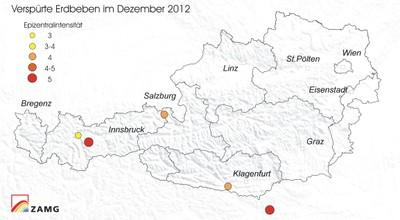 Erdbeben im Dezember 2012