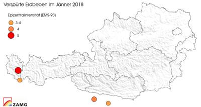 Erdbeben im Jänner 2018