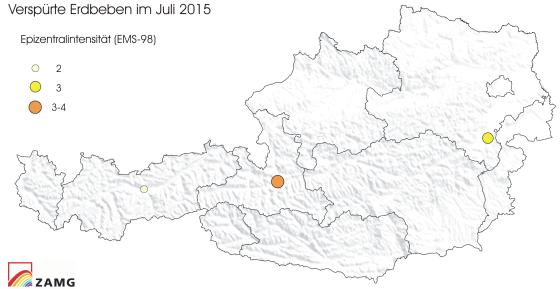 Erdbeben im Juli 2015