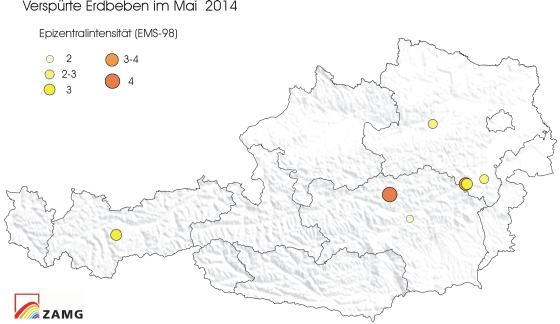 Erdbeben im Mai 2014
