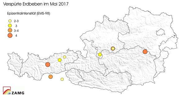 Erdbeben im Mai 2017