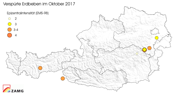 Erdbeben im Oktober 2017