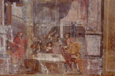 Freigelegtes Fresko