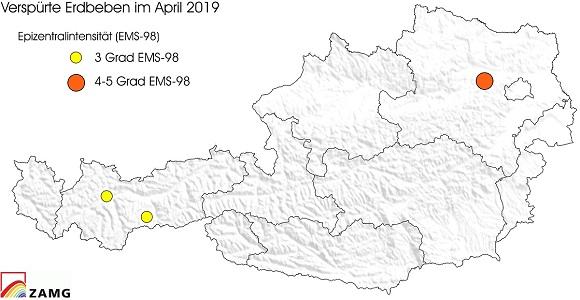Erdbeben im April 2019