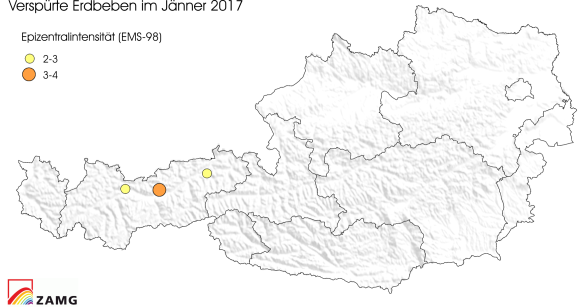 Erdbeben im Jänner 2017
