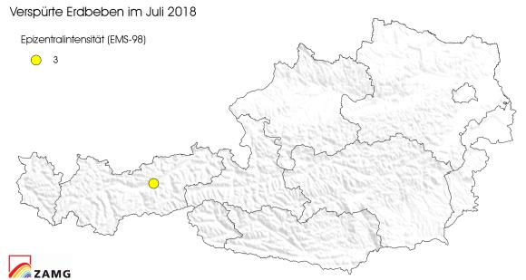 Erdbeben im Juli 2018