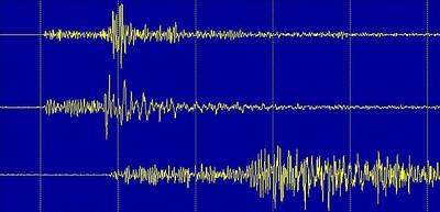 Registrierung des Erdbebens östlich von Fügen, Tirol, am 26. Juni 2012 um 16:22 Uhr MESZ an den Stationen WATA (oben), WTTA (Mitte) und MOTA (unten) des Österreichischen Erdbebendienstes. © ZAMG Geophysik