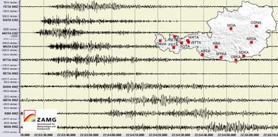 Seismische Aufzeichnung - Felssturz 22. März 2012