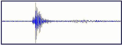 Seismische Registrierung der Detonation der Fliegerbombe © ZAMG Geophysik