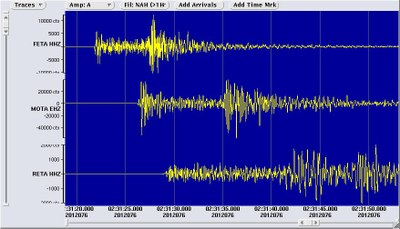 Seismogramm Meran