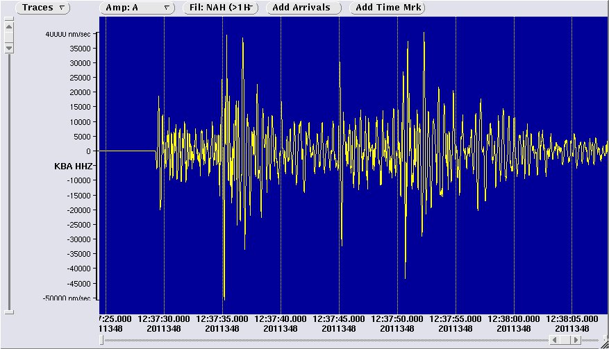 Seismogramm Radstadt