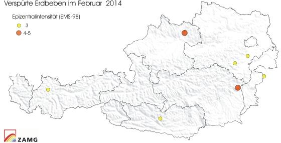 Erdbeben im Feber 2014