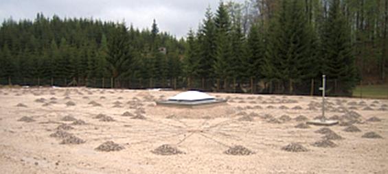 Infraschall - Testanlage am Conrad Observatorium