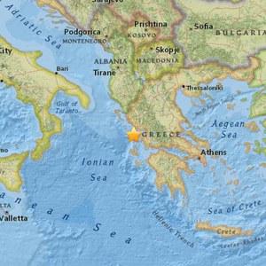 Erdbeben der Magnitude 6,5 in Griechenland, Epizentrum