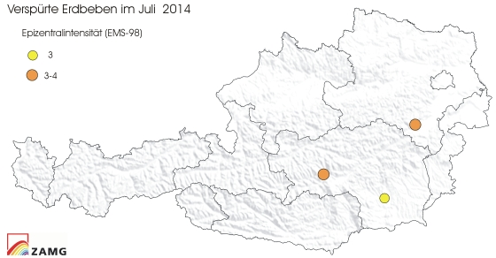 Erdbeben im Juli 2014