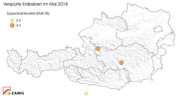 Erdbeben im Mai 2018