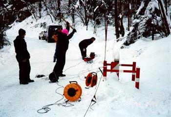 Seismik im Schnee