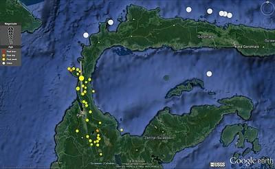 Sulawesi Nachbeben scharf