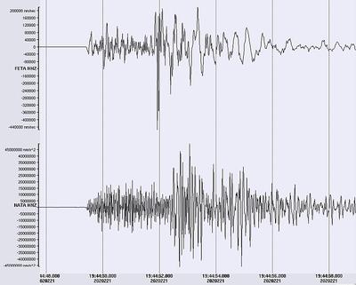 Zams Seismogramm