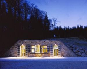 Conrad Observatorium - Eingang Nacht