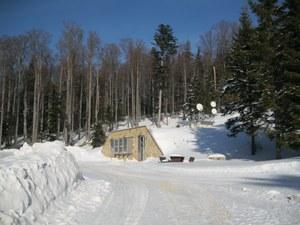 Conrad Observatorium - Eingang Winter