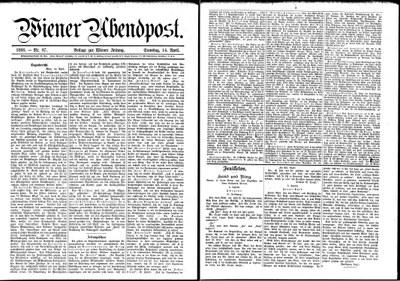 Beben Siegendorf 1888, Wr. Abendzeitung