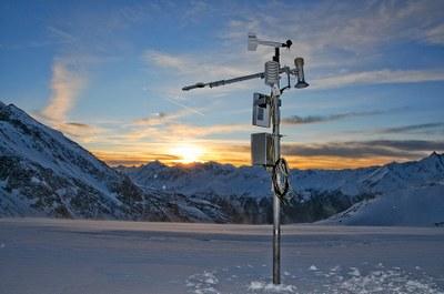 Gletscher-Messstation am Kleinfleißkees am Sonnblick