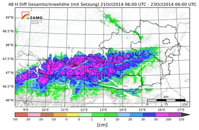 Aktuelle Schneehöhen österreich