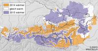 2015 übertraf in einigen Regionen Österreichs das Rekordjahr 2014