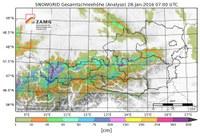 Analyse und Prognose der Schneehöhe für 28 Millionen Datenpunkte