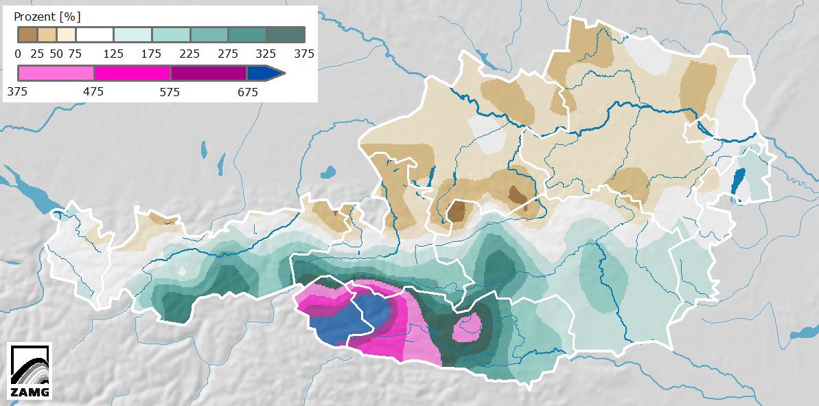 Dezember 2020: sehr mild und im Südwesten extreme Niederschlagsmengen