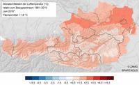 Einer der zehn wärmsten Juni-Monate der Messgeschichte