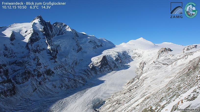 Gletscher sehr stark geschmolzen