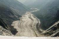 Gletscher wieder stark geschmolzen