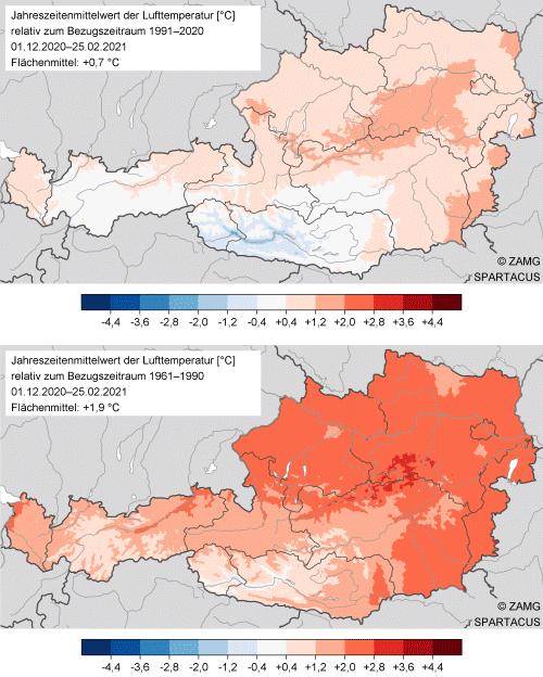 Große Unterschiede im Winter 2020/21