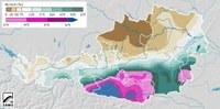 Im Süden bis zu neunmal mehr Niederschlag