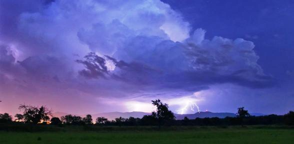 Juli warm und teils extreme Regenmengen