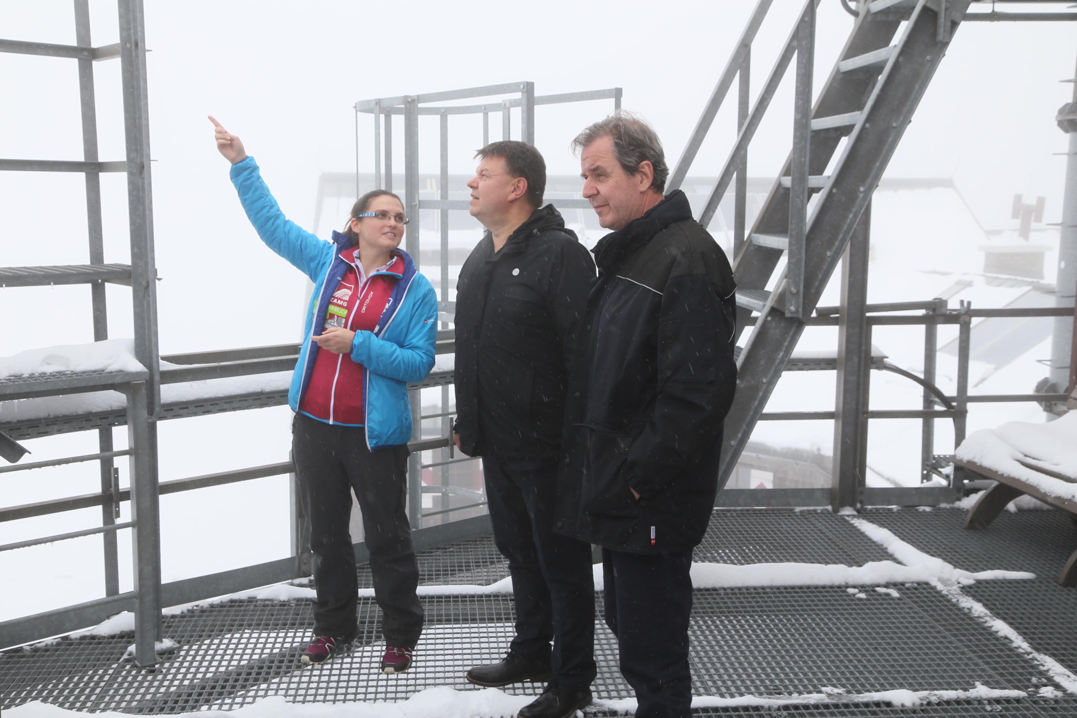 Leiter der Weltorganisation für Meteorologie besuchte Sonnblick-Observatorium