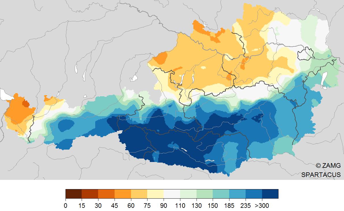November 2019: sehr mild und im Süden sehr feucht