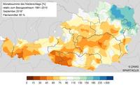 September 2018: mild, sonnig und meist trocken