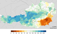 Winter 2018/19 mild und teils viel Niederschlag, teils sehr trocken