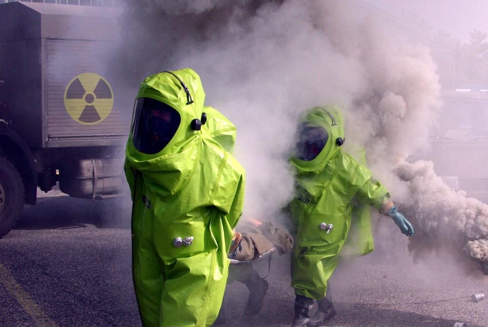 Internationale Übung für nuklearen Zwischenfall