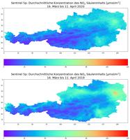 Satellitenanalyse zeigt Rückgang von Stickstoffdioxid durch Corona-Maßnahmen