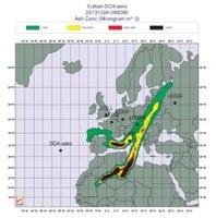 Übung der Wetterdienste zur optimalen Vorhersage von Vulkanasche-Wolken