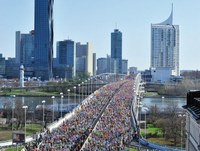 Freundliches Wetter beim Vienna City Marathon