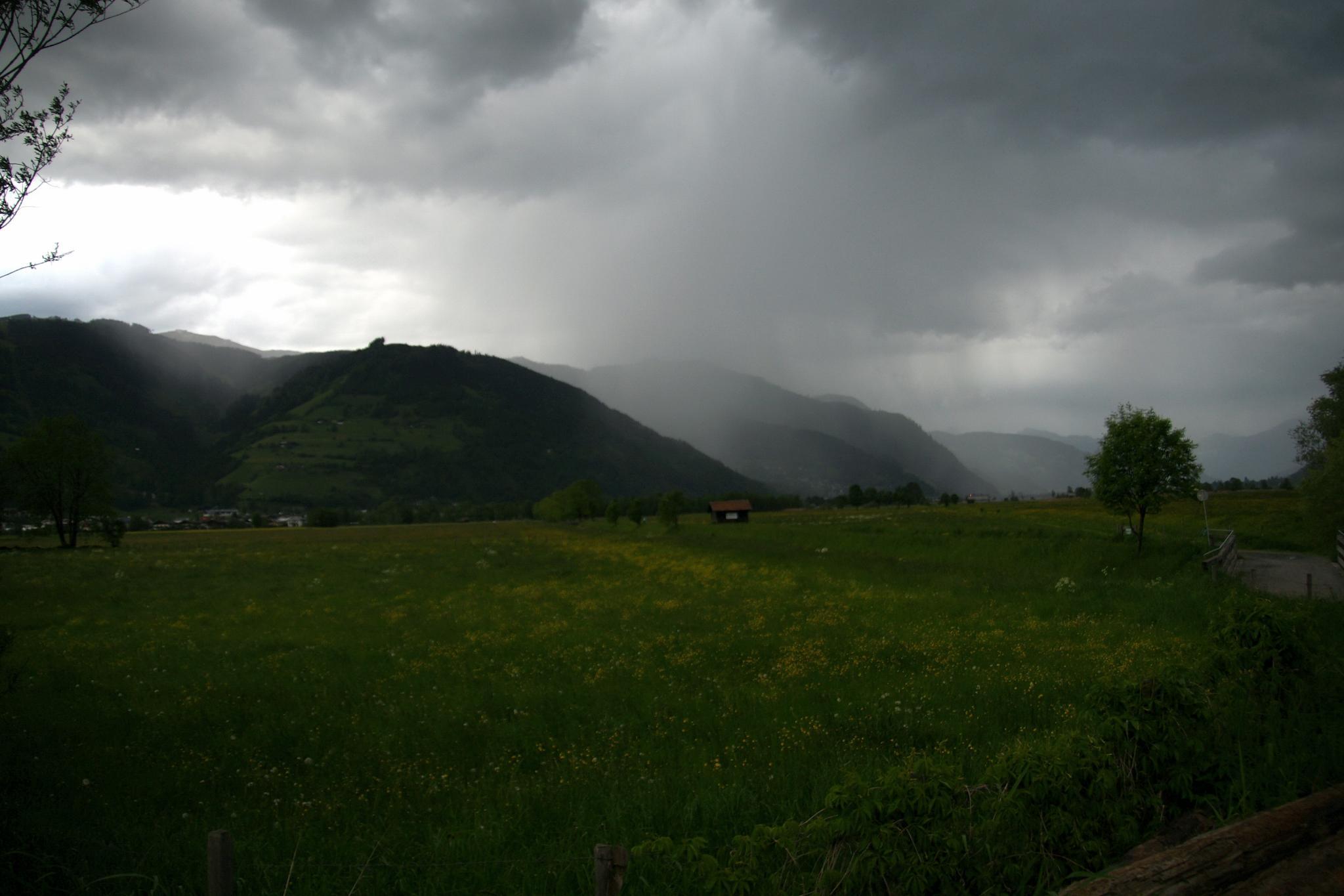 Große Regenmengen im Südwesten Österreichs