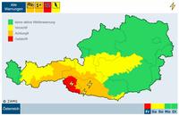 Schnee und Regen: rote Warnung für Teile von Osttirol und Oberkärnten