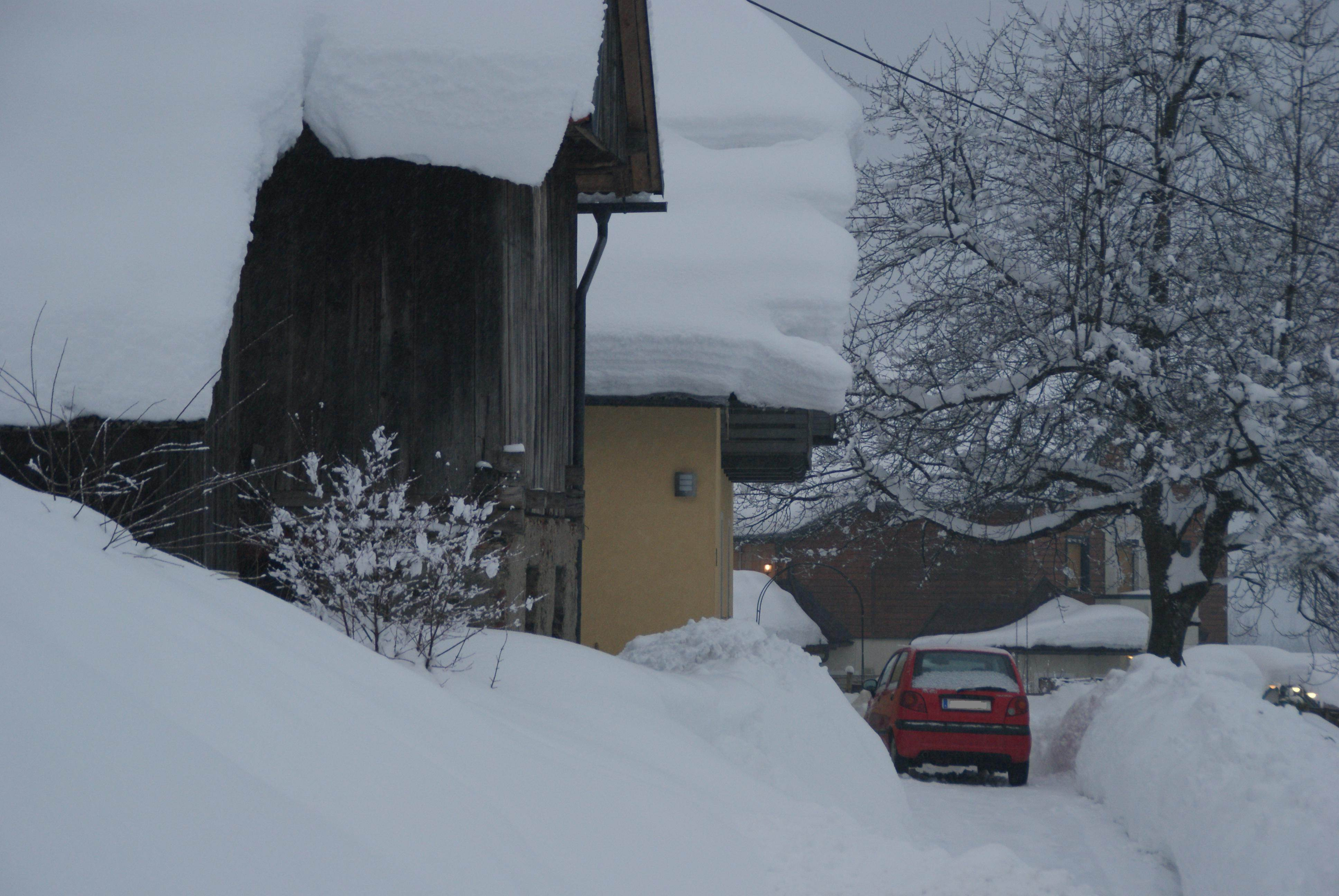 Schneewarnung für Südösterreich